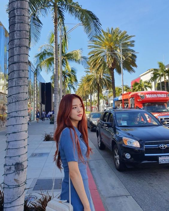 Blue Beach Dress | Jisoo – BlackPink