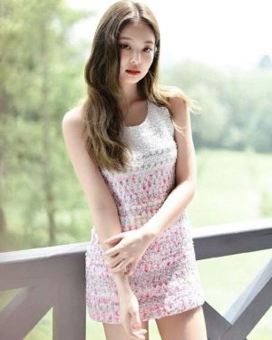 Pink White Blinky Dress   Jennie – BlackPink