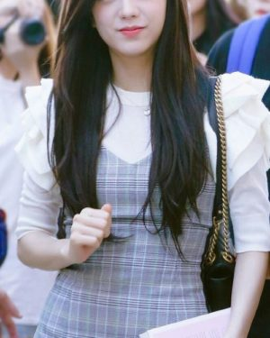 Grey Checkered Dress | Jisoo – BlackPink