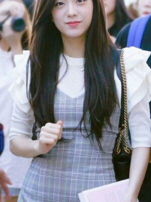 Grey Checkered Dress | Jisoo – BlackPink