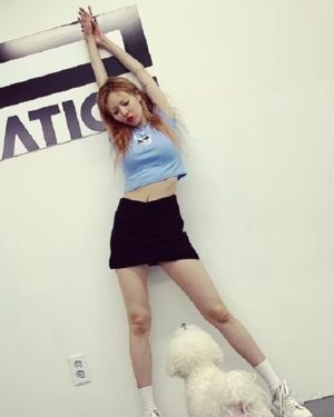 Black Mini Skort | Hyuna