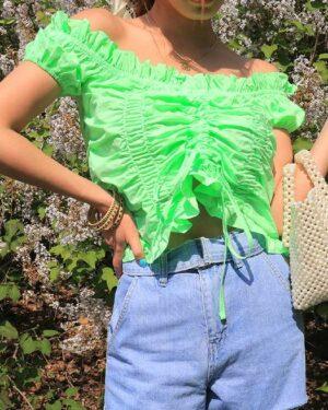 hyuna-pleated-lace-ruffle-crop-top