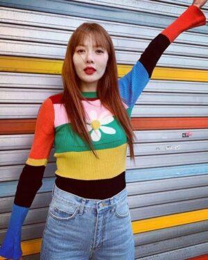 Rainbow Daisy Sweater | Hyuna