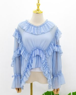 red-velvet-irene-blue-long-sleeve-ruffle-blouse