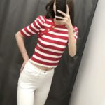 Red Striped Crop Top | Seulgi – Red Velvet