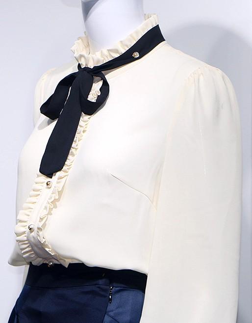 White Blouse With Black Silk | Jihyo – Twice
