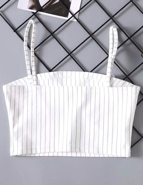 Striped Crop Top | Momo – Twice