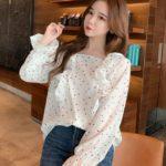 Small Hearts Ruffled Blouse | Dahyun – Twice