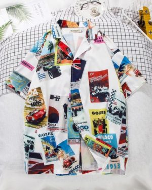 Hani Graffiti Prints Short Sleeved Shirt (6)