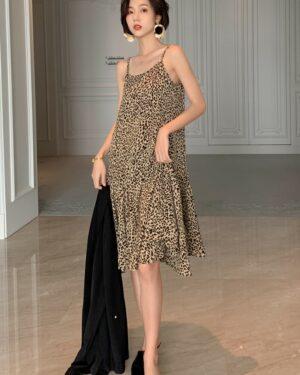Hwasa Leopard Print Sling Dress (3)