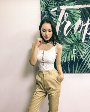 Hyuna Cherry Buckle Bodysuit (2)