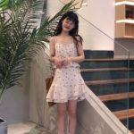 Floral Sling Tube Top | Hyuna