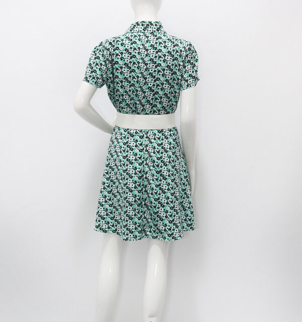 Green Floral V-Neck Dress | Hyuna