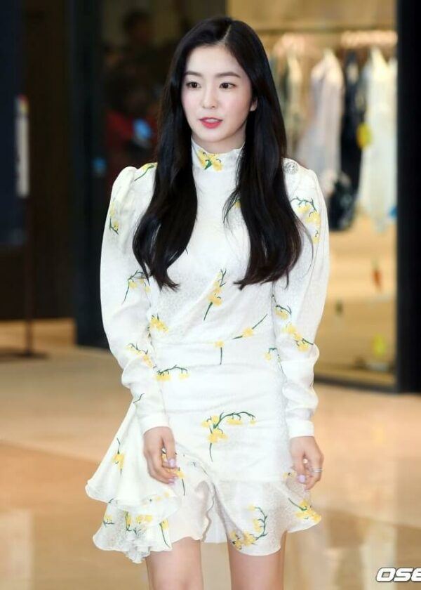 Spring Yellow Flowers Dress   Irene – Red Velvet
