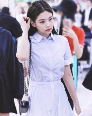 Blue White Gradient Dress | Jennie – BlackPink