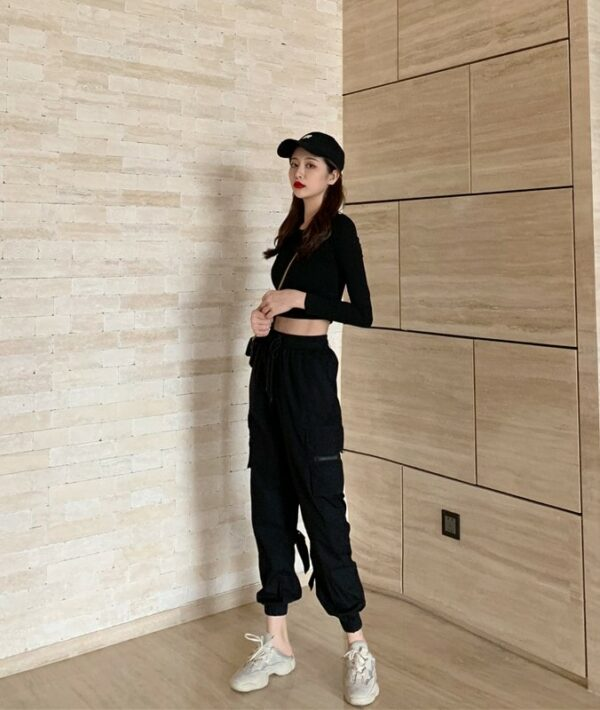 High Waist Buckle Strap Pants | Jeongyeon – Twice