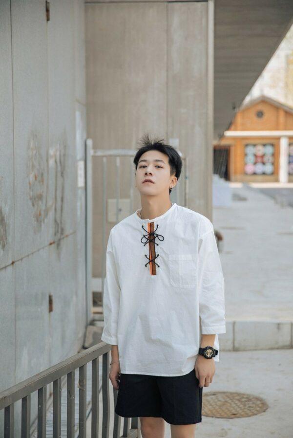 Loose Lace White Shirt | Jimin – BTS
