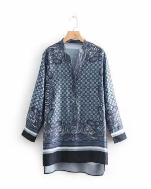 Jimin Loose Long Sleeve Assymetric Print Top (1)