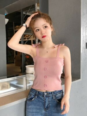 Joy Button Tops Pink (2)