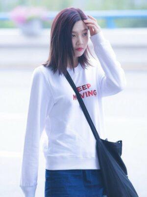 Keep Moving Sweater | Joy – Red Velvet
