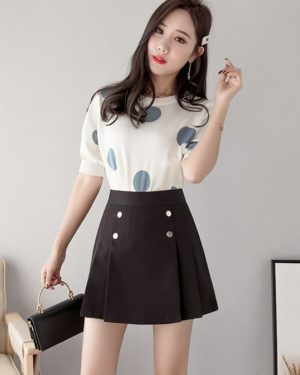 Mina Black Short Skirt (1)
