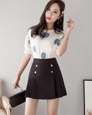 Mina Black Short Skirt (1)