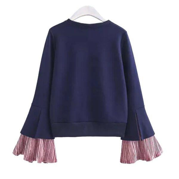Trumpet Sleeve Blue Sweater | Red Velvet