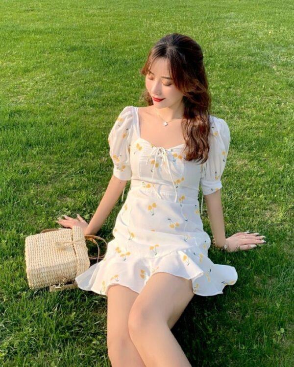 Fresh Cherry Print White Dress   Rose – BlackPink