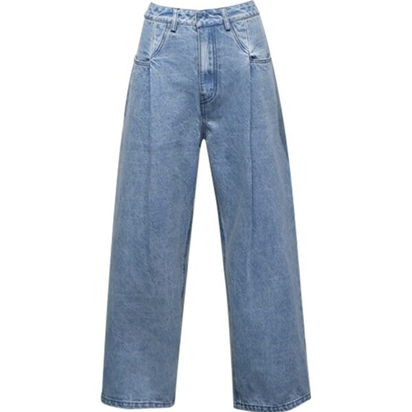 Light Blue Wide Leg Pants   Rose – BlackPink