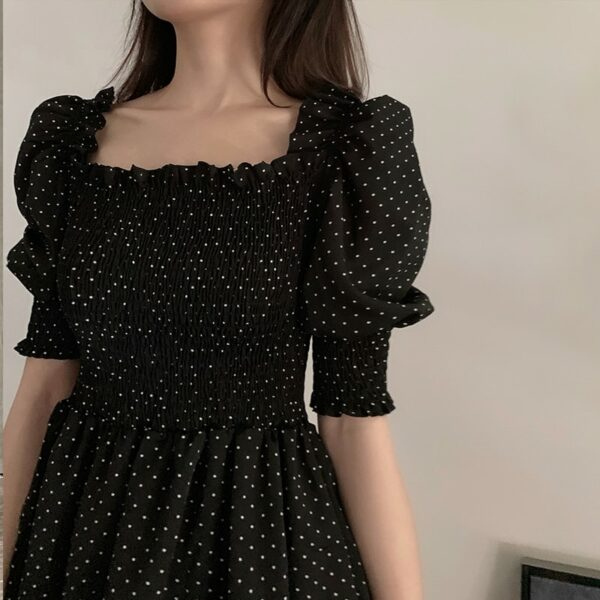 Polka Dots Black Dress | Rose – BlackPink