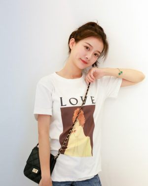 Rose Woman Portrait Love T-Shirt (5)