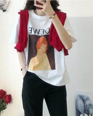 Rose Woman Portrait T-Shirt (2)