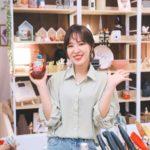 Loose Long Sleeved Blouse   Wendy – Red Velvet
