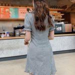 Plaid Doll Collar Grey Dress | Yeri – Red Velvet