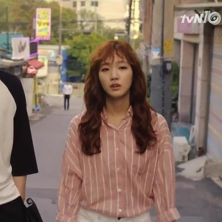 Apricot striped Blouse| Hong Seol – Cheese in the Trap