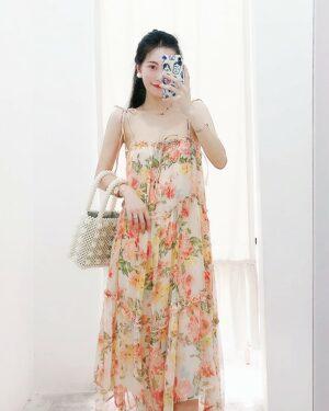 Dahyun Flowy Floral Sling Long Dress (12)
