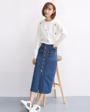 Hong Seol Jeans Skirt Cheese in the Trap (20)