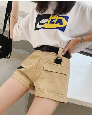 Hyuna Pocket Pants Green & Beige (4)