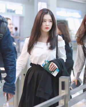 Off-Shoulder White Long Sleeve Blouse   Irene – Red Velvet