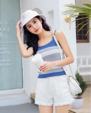 Momo Striped Sleeveless Tank Top (4)