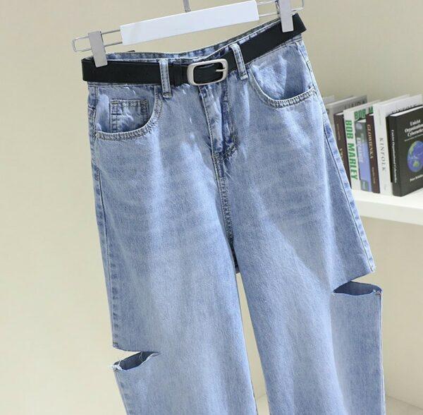 Cut Thighs Denim Pants | Nayeon – Twice
