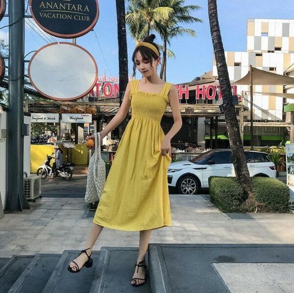 Yellow Sleeveless Dress | Soojin – (G)I-DLE