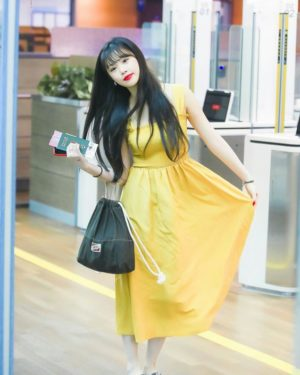 Yellow Sleeveless Dress | Soojin – (G)I-DLE