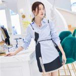 Blue Polo Shirt & Lace Assymetric Dress | Soojin – (G)I-DLE