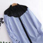 Striped Long Sleeve Lace Shirt | Yuqi – (G)I-DLE