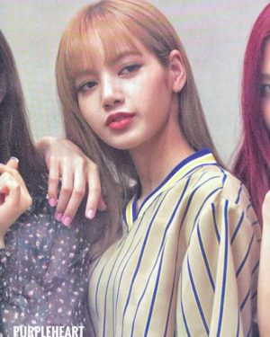 V-Neck Vertical Striped Shirt | Lisa – BlackPink