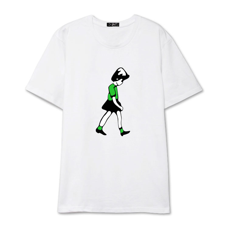 Cartoon Girl Print T-Shirt | Mark - NCT