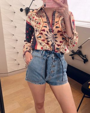 Momo Floral Patterened Shirt (6)