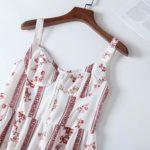 Red Floral Print Strap Dress   Momo – Twice