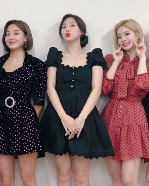 Black U-Neck French Dress   Nayeon – Twice